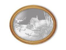 Millpond Mallards Etched Mirror